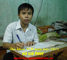 Thủ khoa ĐH Kiến Trúc năm 2013 - Hồ Gia Phúc